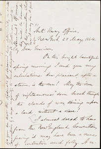 Letter from Oliver Johnson, New York, [N.Y.], to William Lloyd Garrison, 28 May, 1864