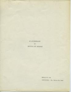 Student family histories: Broadnax, Patricia (Haliburton, Conely)