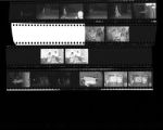 Set of negatives by Clinton Wright including City of Hope Fashion Show at Stardust, worker at Mark Wilson, baseball players at Doolittle Park, and Jo Mackey PTA, 1966