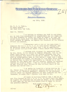 Letter from Charles A. Shaw to W. E. B. Du Bois