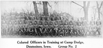 Colored officers in training at Camp Dodge; Desmoines, Iowa; Group No. 2