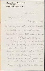 Letter from Theodore Parker, Boston, [Mass.], to William Lloyd Garrison, Jan[uar]y 31 [18]59