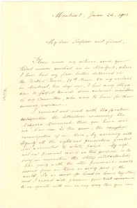Letter from Benito Sylvain to W. E. B. Du Bois