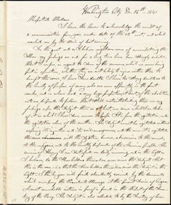 Letter from Nathaniel B. Borden, Washington City. [District of Columbia], to John Anderson Collins and Maria Weston Chapman, 1841 Dec[ember] 11