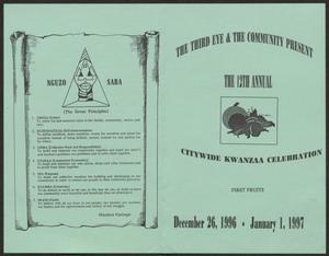 Program: 12th Annual Citywide Kwanzaa Celebration