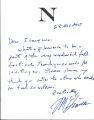 Nikki Giovanni thank you note