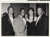 Photograph of (left to right) Roosevelt Toston, Frank Hawkins, Zelda Puryear-Williams, and Wendell Williams, early 1990s