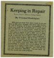 Washington, Booker T -- Printed [A.H. Peeler papers]