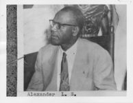Mississippi State Sovereignty Commission photograph of L. S. Alexander, Jackson, Mississippi, 1950s