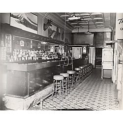 Interior of Vince's bar