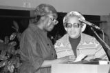 Gwendolyn Brooks was an American poet, author, and teacher, the first African American to win the Pulitzer prize. Brooks visited IWU five times between 1972 and 1999. Brooks signing an autograph.