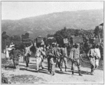 Haitian soldiers on the march