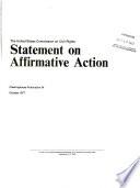 Statement on affirmative action
