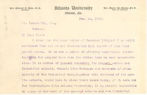Letter from W. E. B. Du Bois to Samuel May, Jr.
