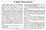 A Quiet Denouement