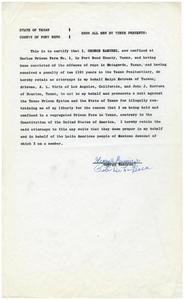 Affidavit from George Ramirez