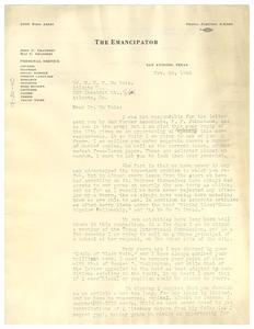 Letter from John C. Granbery to W. E. B. Du Bois