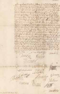 Royal proclamation regarding the Royal African Company with signatures, 2 December 1674