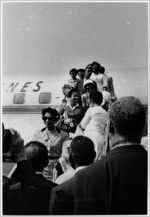 [The Little Rock Nine arriving at La Guardia Airport, New York, NY, 1958]