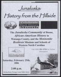 Junaluska: History from the Hillside [February 25, 2006]