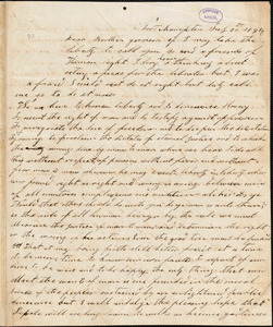 Letter from Stephen C. Rush, Northampton, [Massachusetts], to William Lloyd Garrison, 1844 July 21st