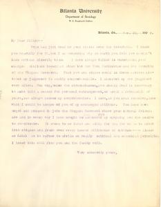 Letter from W. E. B. Du Bois to Kelly Miller