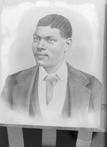 Clay (copy of portriat sketch of African American man)