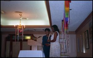 Accepting Award at Service to Youth Award San Antonio Chapter of Links Records