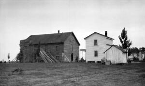 Views of old building. Caroline County Training School