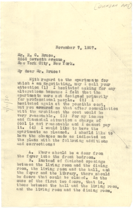 Letter from W. E. B. Du Bois to Paul Lawrence Dunbar Apartments