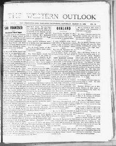 The Western Outlook (San Francisco and Oakland, Calif.), Vol. 34, No. 24, Ed. 1 Saturday, March 17, 1928 The Western Outlook