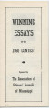 Winning Essays in the 1960 Contest