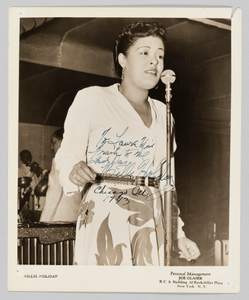 Photograph of Billie Holiday