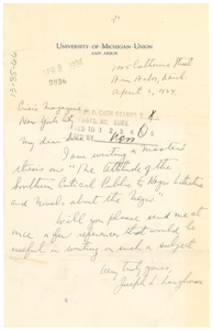 Letter from Joseph L. Langhorne to the Crisis