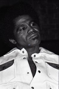 James Brown at the Sugar Shack: Brown half-length portrait