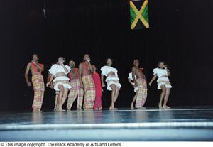 Dance troupe performing Lift Up Jamaica musical Ashe Caribbean Dance