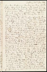 Letter from Richard Davis Webb, Dublin, [Ireland], to Maria Weston Chapman, 22nd Jan. 1854