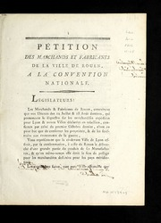 Pétition des marchands et fabricants de la ville de Rouen : a la Convention nationale