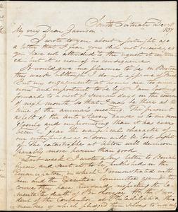 Letter from Samuel Joseph May, South Scituate, [Massachusetts], to William Lloyd Garrison, 1837 Dec[ember] 18