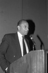 Black Women's Forum event speaker, Los Angeles, 1991