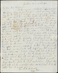 Letter from Elizabeth Poole, Growtown, [Ireland], to Maria Weston Chapman, November 1st, 1844