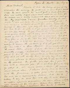 Letter from Anne Warren Weston, Poplar St., Boston, to Deborah Weston, March 29, '41
