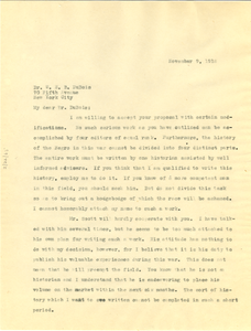 Letter from C. G. Woodson to W. E. B. Du Bois