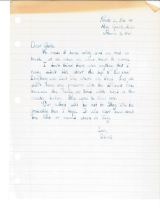 Letter from Alberta to Gloria Xifaras Clark (Gloria Xifaras Clark)