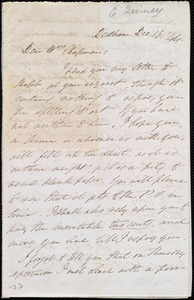 Letter from Edmund Quincy, Dedham, [Mass.], to Maria Weston Chapman, Dec. 16, [18]44
