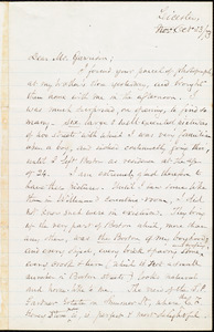 Letter from Samuel May, Jr., Leicester, [Mass.], to William Lloyd Garrison, Oct[ober] 23 / [18]73