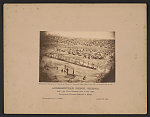 Andersonville Prison, Georgia. Bird's eye view - gathering roots to boil coffee Thirty-three thousand prisoners in bastile /