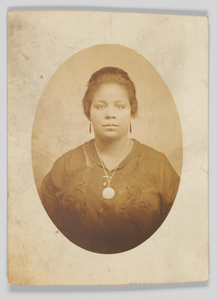 Photographic postcard of unidentified woman