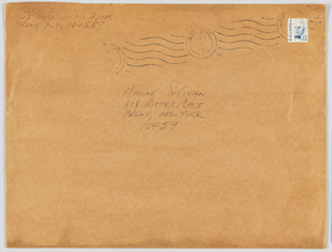 Envelope sent from William Scott to Maxine Sullivan