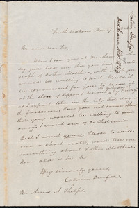 Letter from Calvin Durfee, South Dedham, to Amos Augustus Phelps, Nov 27, 1843